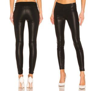 New Blank NYC Faux Leather Legging Pants Black